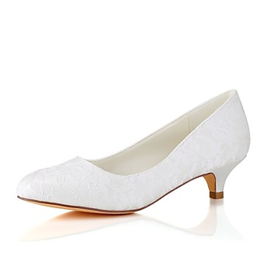 e702020cc84 Women s Shoes Stretch Satin Spring   Fall Basic Pump Wedding Shoes Kitten  Heel Round Toe White   Ivory   Party   Evening