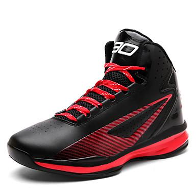 נעליים PU אביב / קיץ נוחות נעלי אתלטיקה כדורסל שחור לבן / שחור אדום / שחור וצהוב