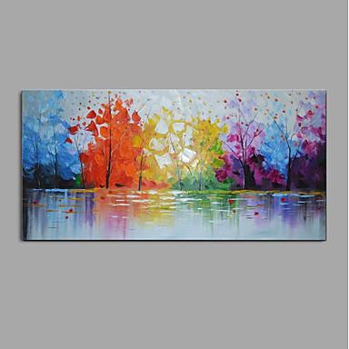 ציור שמן צבוע-Hang מצויר ביד - מופשט / L ו-scape מודרני בַּד / בד מתוח