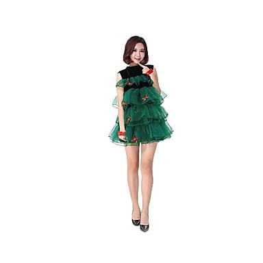 Karácsonyi ruha Santa ruházat Női Karácsony Karácsony Fesztivál   ünnepek  Pamut ruhák Sötétzöld Karácsony 6478717 2019 –  29.99 123b141f47