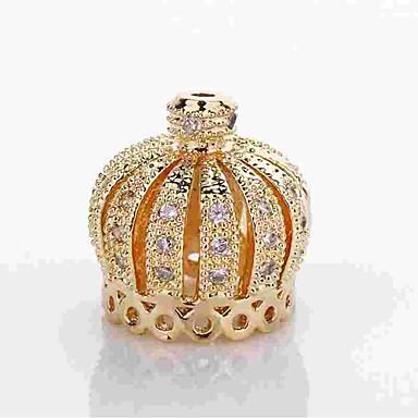 תכשיטים DIY 1 יח חרוזים סגסוגת זהב כסף Crown Shape חָרוּז 0.5 cm עשה זאת בעצמך שרשראות צמידים