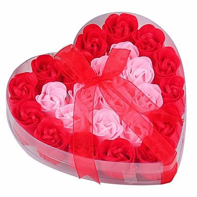 קישוטים לחג חג האהבה זרי פרחים ועיטורים סגול / ורוד / אדום כהה 1pc