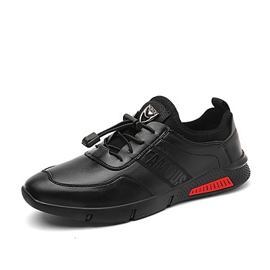 בגדי ריקוד גברים נעליים גומי אביב / סתיו נוחות נעלי ספורט שחור / חום