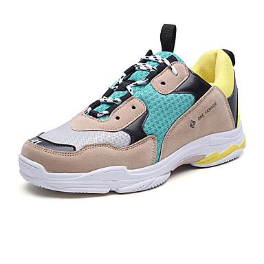 בגדי ריקוד גברים נעלי נוחות דמוי עור אביב / קיץ נעלי ספורט שחור / צהוב / כחול
