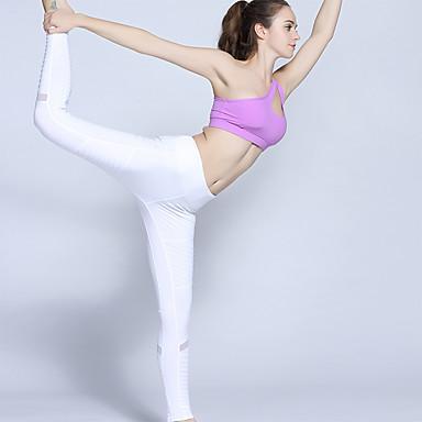 בגדי ריקוד נשים טייץ לריצה - לבן, שחור ספורט טייץ רכיבה על אופניים יוגה, כושר וספורט, חדר כושר לבוש אקטיבי נשימה