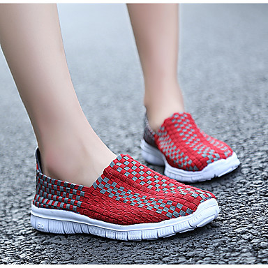 Confort 06532239 Polyuréthane Chaussons Jaune D6148 Printemps et Automne Rouge Chaussures Plat Mocassins Tulle Femme Talon qBw6XZ
