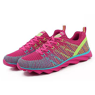 בגדי ריקוד נשים נעליים טול אביב / קיץ נוחות נעלי אתלטיקה שטוח סגול / פוקסיה