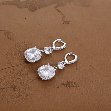 בגדי ריקוד נשים עגילים צמודים טבעות חישוקים - תכשיטים כסף עבור חתונה Party