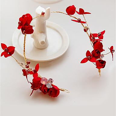 סגסוגת רצועות / פרחים עם עלי כותרת 1pc חתונה / אירוע מיוחד כיסוי ראש