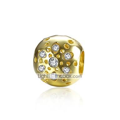 תכשיטים DIY 1 יח חרוזים ציפוי זהב כסוף יהלום מדומה זהב כדור חָרוּז 1.1 cm עשה זאת בעצמך שרשראות צמידים