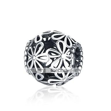 תכשיטים DIY 1 יח חרוזים כסוף כסף כדור חָרוּז 1.1 cm עשה זאת בעצמך שרשראות צמידים