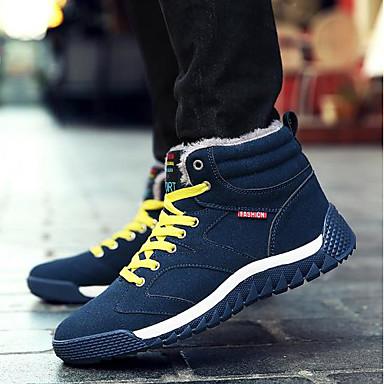 בגדי ריקוד גברים נעליים PU סתיו / חורף נוחות נעלי ספורט שחור / כחול כהה / ירוק צבא