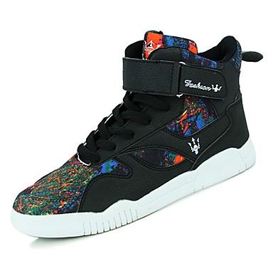 נעליים PU סתיו נוחות נעלי ספורט ל קזו'אל שחור שחור לבן שחור אדום כתום ושחור