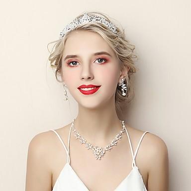 בגדי ריקוד נשים סט תכשיטים - אופנתי לִכלוֹל לבן עבור חתונה יום הולדת