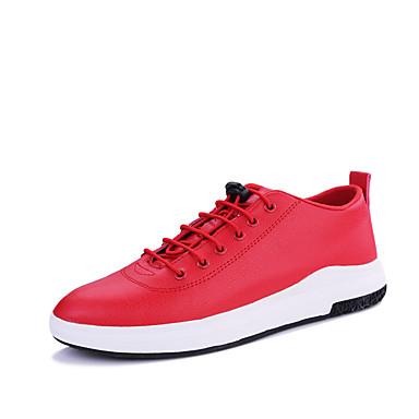 בגדי ריקוד גברים נעלי נוחות PU אביב / סתיו נעלי ספורט שחור / כחול כהה / אדום