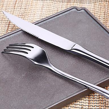 כלי אוכל 2pcs פלדת על חלד סט 18*2;24*2 cm