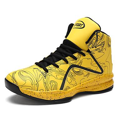 נעליים PU אביב קיץ נוחות נעלי אתלטיקה ל אתלטי בָּחוּץ שחור צהוב אדום