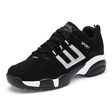 נעליים דמוי עור אביב סתיו נוחות נעלי אתלטיקה ל אתלטי קזו'אל שחור לבן שחור אדום