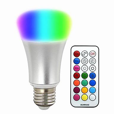580-700lm E26 / E27 Smart LED-lampe BR 30 LED perler SMD 5050 Mulighet for demping Dekorativ Fjernstyrt RGB 220-240V