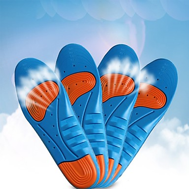 זוג 1 נושם מדרסים PVC ג'ל כל הנעליים כל העונות יוניסקס כחול