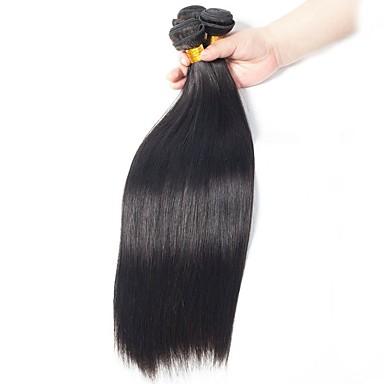 3 חבילות שיער ברזיאלי ישר שיער בתולי טווה שיער אדם שוזרת שיער אנושי תוספות שיער אדם בגדי ריקוד נשים