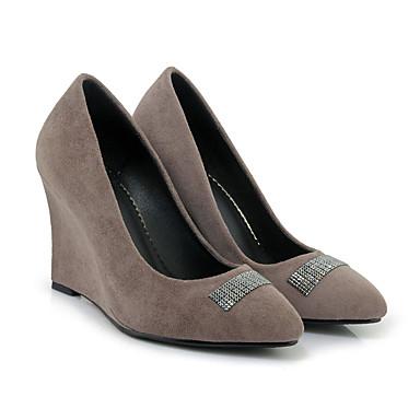 Printemps 06501000 semelle Femme Chaussures synthétique de Bout pointu Chaussures compensée Hauteur Laine Talons à Gris Eté Rouge Confort qqwxtBrPT