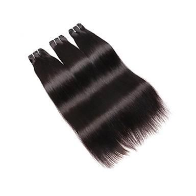 שיער ברזיאלי / חבילות ישר שיער בתולי / שיער ראמי / שיער אנושי טווה שיער אדם שוזרת שיער אנושי לנשים שחורות צבע טבעי תוספות שיער אדם בגדי ריקוד נשים