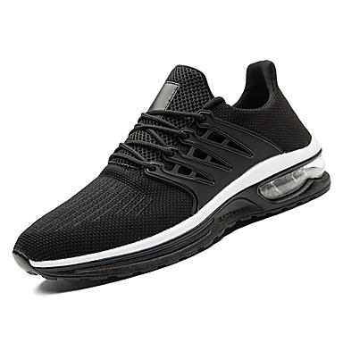 נעליים PU טול אביב סתיו נוחות נעלי אתלטיקה ל אתלטי קזו'אל שחור אפור אדום