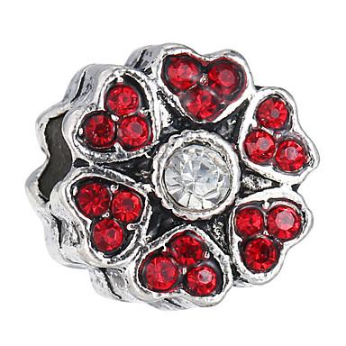 פרח חרוזים תכשיטים DIY - אבן נוצצת אדום / כחול בהיר / כחול ים צמידים שרשראות
