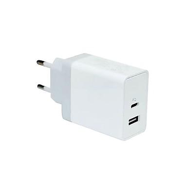 מטען לבית / מטען נייד מטען USB EU מחבר הטענה מהירה / מרובה חיבורים 2חיבוריUSB 2.4 A ל
