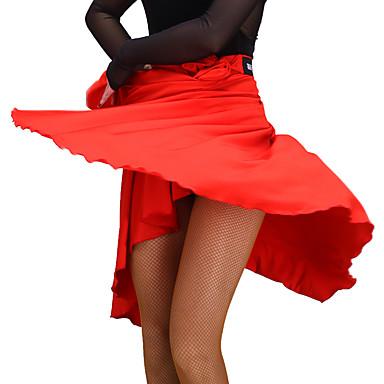 ריקוד לטיני חלקים תחתונים בגדי ריקוד נשים הצגה מילק פייבר קפלים ללא שרוולים טבעי חצאיות