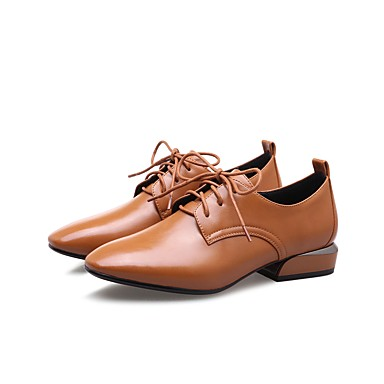 Polyuréthane Marron 06530074 Talon Chaussures Bottier Printemps Confort Automne Femme Noir Oxfords Zwx6OBBq