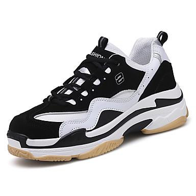 בגדי ריקוד גברים נעלי נוחות PU אביב / סתיו נעלי אתלטיקה ריצה שחור