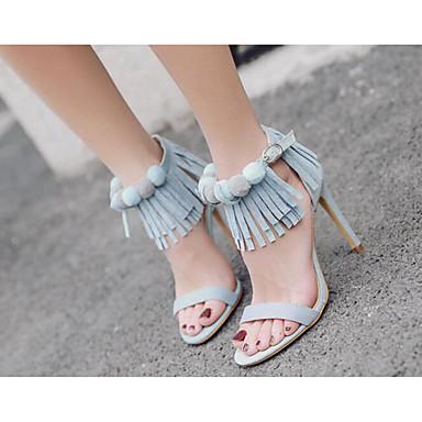 Femme Chaussures à pampille Polyuréthane Printemps Printemps Printemps / Eté Confort  s Talon Aiguille Bleu clair / Amande | En Qualité Supérieure  ce5b1d