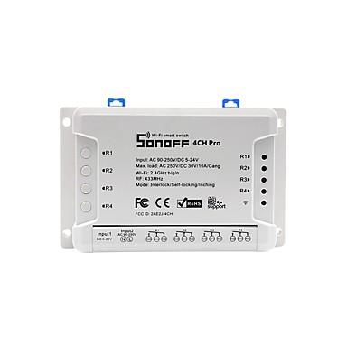 Недорогие Электонные выключатели-Sonoff 4ch Pro 4 банды Wi-Fi Смарт-переключатель для DIY умный дом