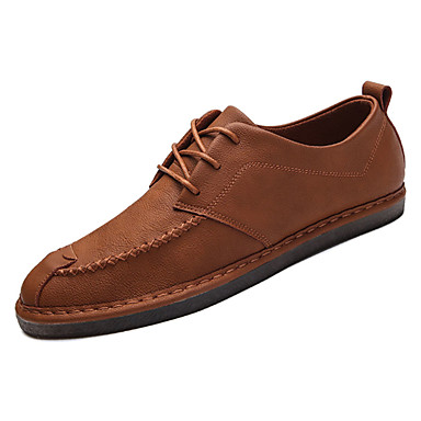 בגדי ריקוד גברים נעליים עור נובוק אביב / סתיו נוחות נעלי אוקספורד שחור / חום / ירוק