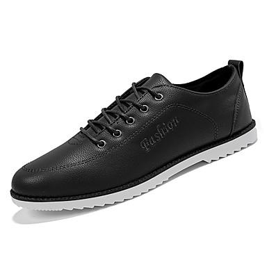 נעליים PU אביב סתיו נוחות נעלי אוקספורד ל קזו'אל שחור חום כחול