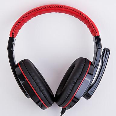 ditmo CY-519 רצועת ראש חוטי אוזניות דִינָמִי פלסטי גיימינג אֹזְנִיָה עם מיקרופון אוזניות
