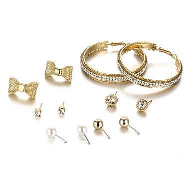 בגדי ריקוד נשים עגילים צמודים / טבעות חישוקים - פפיון בוהמי, אופנתי, בוהו זהב עבור מתנה / יומי
