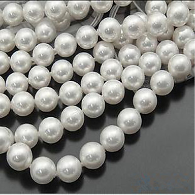 תכשיטים DIY 46 יח חרוזים דמוי פנינה לבן עגול חָרוּז 0.8 cm עשה זאת בעצמך שרשראות צמידים
