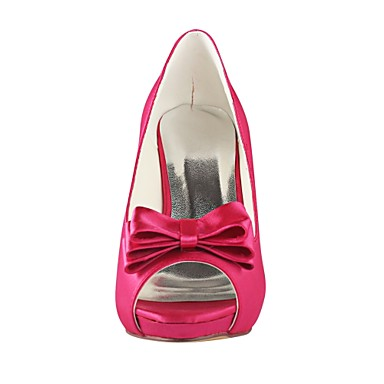 ouvert Fleur Escarpin Aiguille Chaussures Elastique Chaussures Satin Talon Satin mariage Eté Fuchsia en Basique 06487316 de Bout Printemps Femme COw6Xxqw