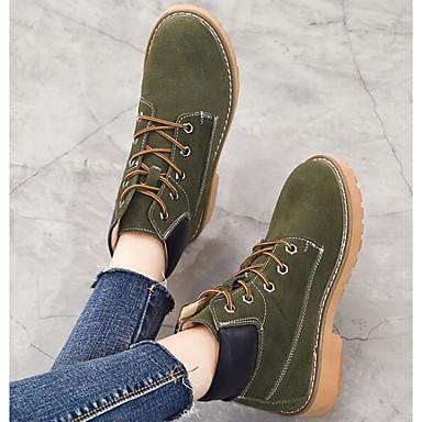 06533394 Véronèse Automne Hiver Demi Noir Bottine Bottes Chaussures Botillons Kaki Talon Confort Daim Plat Femme Vert Botte qwat46E