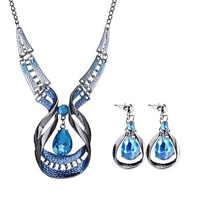 בגדי ריקוד נשים סט תכשיטים - טיפה בוהמי, ארופאי, בוהו לִכלוֹל כחול עבור Party מסיבת ערב / עגילים