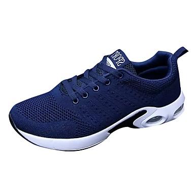 בגדי ריקוד גברים גומי אביב / סתיו נוחות נעלי אתלטיקה שחור / כחול כהה / אפור