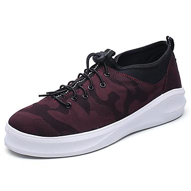 בגדי ריקוד גברים PU אביב / סתיו נוחות נעלי אתלטיקה שחור / אדום / כחול