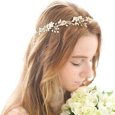 סגסוגת רצועות עם עלי כותרת 1pc חתונה / אירוע מיוחד כיסוי ראש