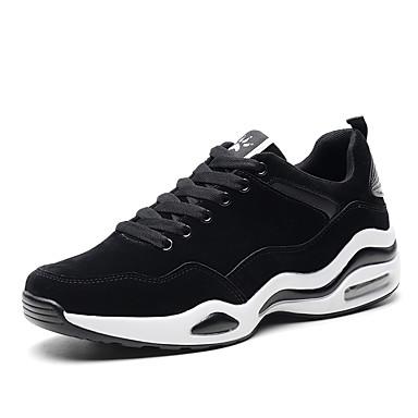 בגדי ריקוד גברים PU אביב / סתיו נוחות נעלי אתלטיקה לבן / שחור / כסף
