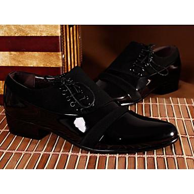 בגדי ריקוד גברים נעליים PU אביב / סתיו נוחות נעלי אוקספורד שחור
