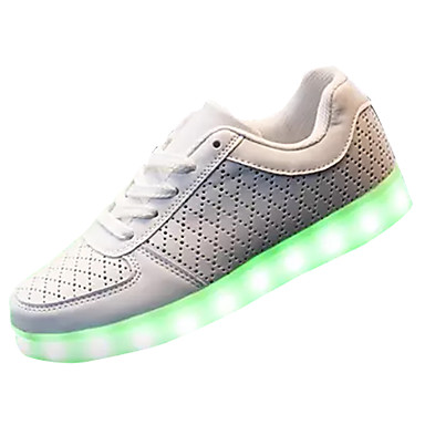 בגדי ריקוד גברים נעליים PU אביב / סתיו נעליים זוהרות נעלי אתלטיקה לבן