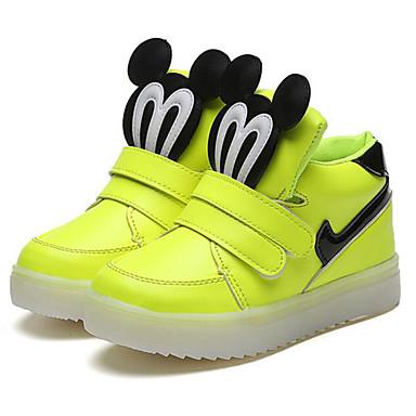 baratos Sapatos de Criança-Para Meninas Sapatos Courino Primavera Conforto Tênis para Preto / Amarelo / Rosa claro